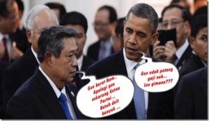 Lucu SBY dan Barack Obama